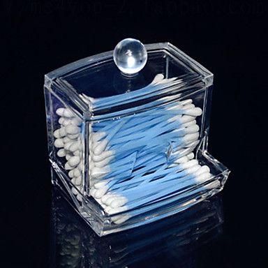 akryl genomskinlig låda formad pinne box kosmetika förvaringslåda kosmetiska arrangör 2016 - $5.99
