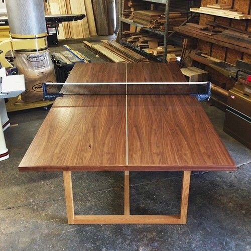 Custom Made Wood Ping Pong Table From Builtthings Com