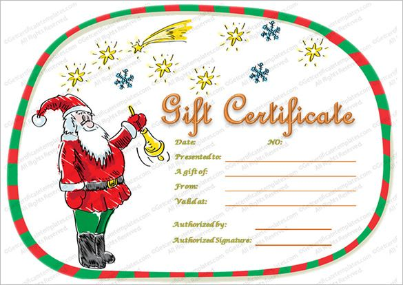 Christmas Gift Certificate Template Free Download 5 Professional Christmas Gift Certificate Template Gift Certificate Template Word Christmas Gift Template