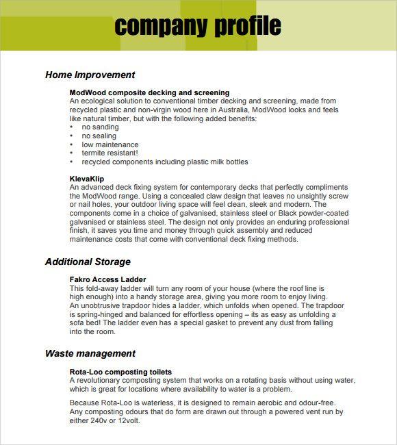 Company Profile Template Pdf Company Profile Template