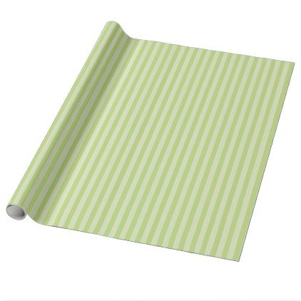 Trendy Pastel Bright Lime Green Stripes Pattern Wrapping Paper - pattern sample design template diy cyo customize