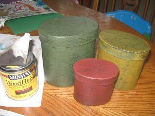 Simple Livin: Painting Primitive Paper Mache Boxes Tutorial