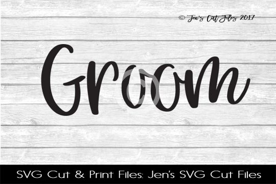 Groom SVG Cut File