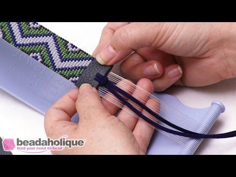 How to Finish Off Beaded Loom Work with Faux Leather - YouTube