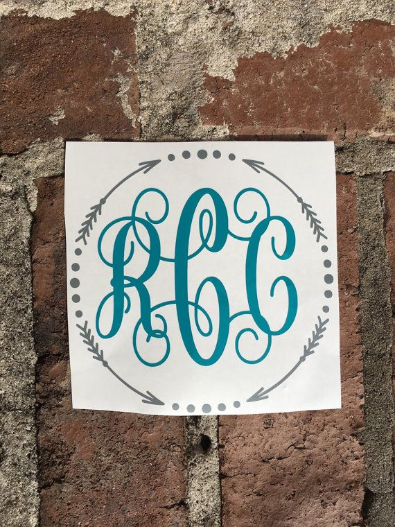 Best Monogrammed Things Images On Pinterest Monogram Car - Create car decals online