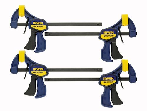 """Irwin clamps.  Recommended by SawDustGirl.  $20 for 6"""".  Need more or other sizes?  Check inventory."""