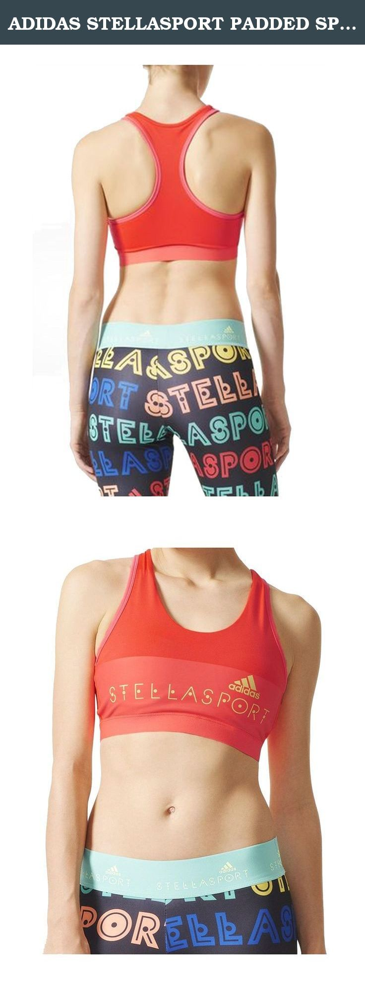 ADIDAS STELLASPORT PADDED SPORT BRA (M). Fresh pops of colour and bold patterns define this season's adidas STELLASPORT collection. A team effort between adidas and Stella McCartney, the line puts Stella's fun, youthful spin on favourite sportswear styles. Designed for medium support, this adidas STELLASPORT workout bra is built of super-breathable fabric so you stay dry and comfortable. With contrasting edging and a front-and-centre Stella logo.