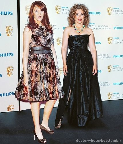 Catherine Tate+Alex Kingston, two of my favorite Doctor Who actresses.