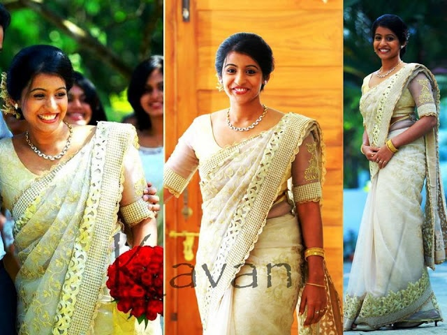 Exclusive Wedding Saree Studio-KAVANI.  The label Kavani represents the Saree designed by Mrs Tan Kuruvilla and Mrs Laila c. Kuruvilla.    Company Overview:  The team at Kavani work on customised orders for bridal sarees, Engagement lehangas, Anarkalis and sarees for function wear. They work from home and take orders in kottayam based on prior appointments made through our number.For more..see blog http://www.creativelycarvedlife.blogspot.in/