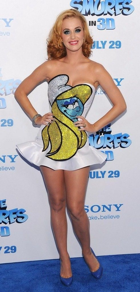 Katy Perry smurfalicous <3