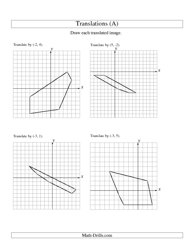 translations grade 5 math worksheets pdf