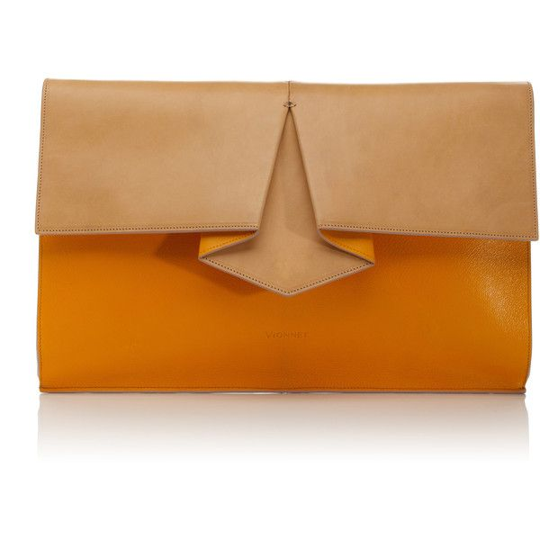 Vionnet Accessories Origami Oversize Clutch ❤ liked on Polyvore