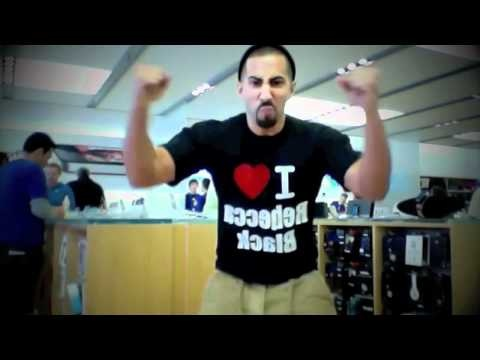 REBECCA BLACK DANCING IN APPLE STORE TO FRIDAY