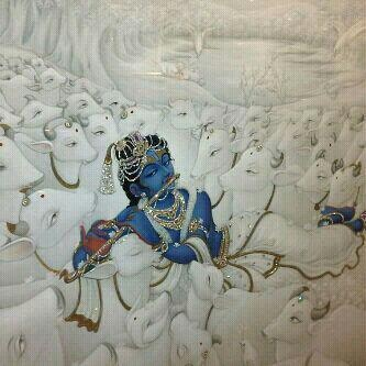 Krishna & milky cows. I want this painting. Does anyone know where I can get it?