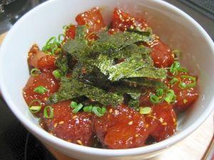 「簡単でウマウマ!☆韓国風マグロ丼☆」5分で簡単ウマウマ!忙しい時のお助け料理です!【楽天レシピ】