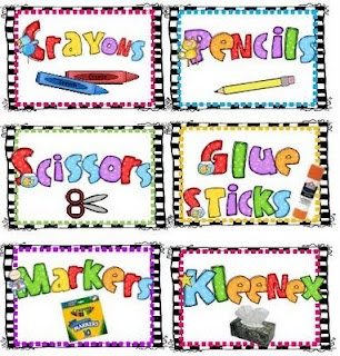 Back to school Printable labels-FREE to share with my teachers.