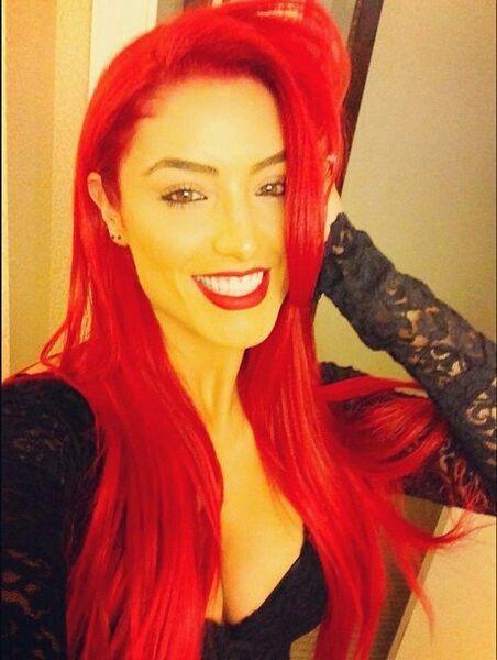 eva marie hair | Eva Marie red hair.