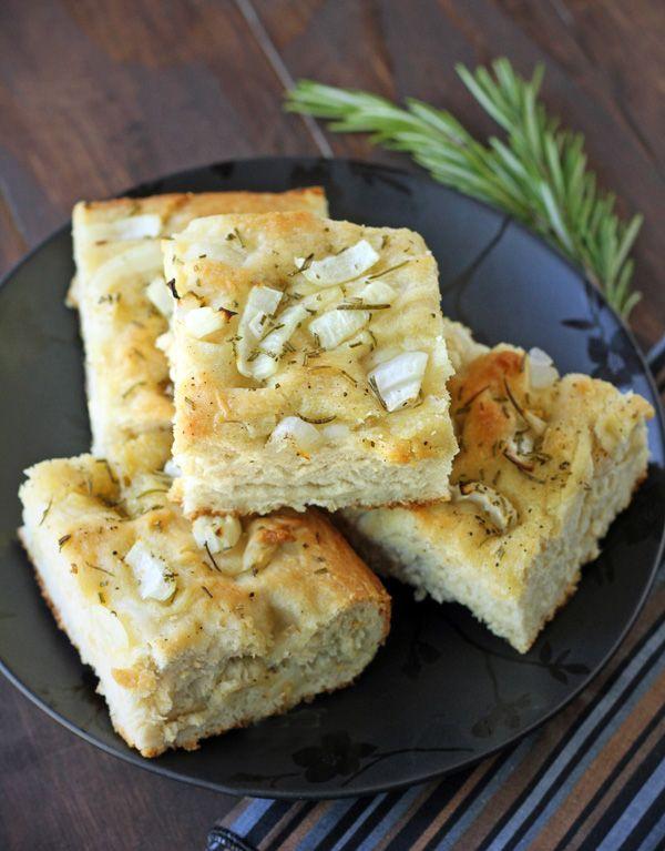 Rosemary And Onion Focaccia Recipe — Dishmaps