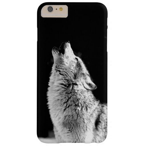 Black & White Howling Wolf iPhone 6 Plus Case