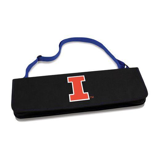 University of Illinois Metro BBQ Tool Set w/Digital Print