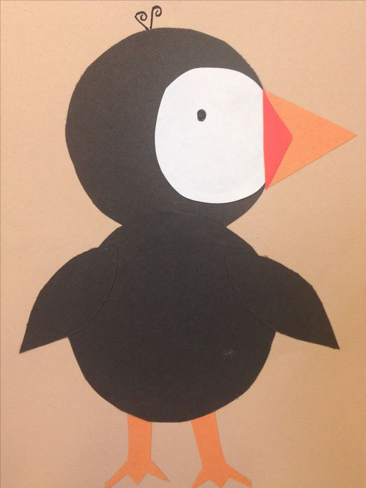 Classroom Decor Kindergarten ~ Puffin craft to go with nothing like a story