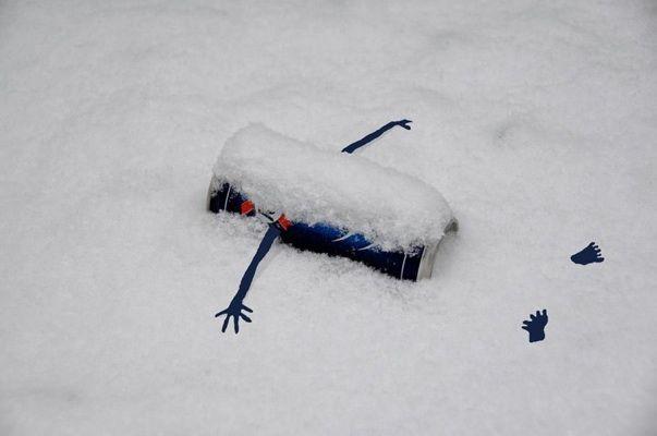 So funny! La neige- by Sandrine Boulet