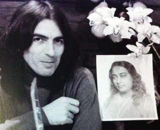george harrison + paramahansa yogananda  autobiography of a yogi  http://en.wikipedia.org/wiki/Autobiography_of_a_Yogi