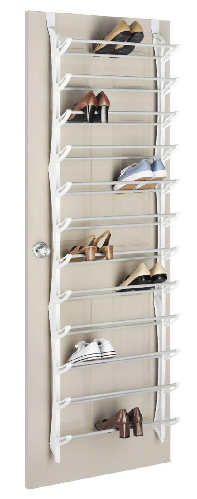 closet door shoe storage option 36 pair overthedoor shoe rack this rack would be ideal over the inside of a closet door so itu0027s hidden from