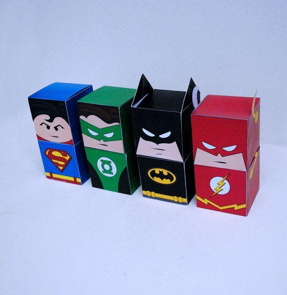 DIY Printable Superhero Cupcake Holder Box Set by CupcakeFashion, $10.50