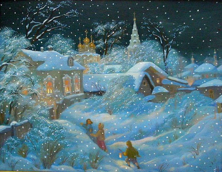 Рождественские картины - Ярмарка Мастеров - ручная работа, handmade