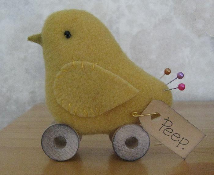 baby chick pin cushion