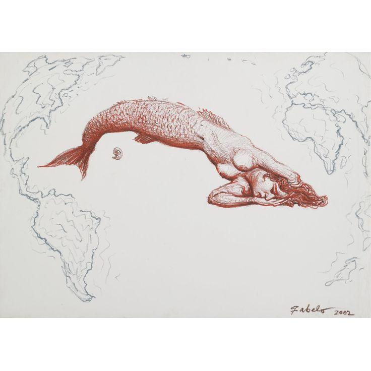 Roberto Fabelo - Isla de Cuba, oil on canvas