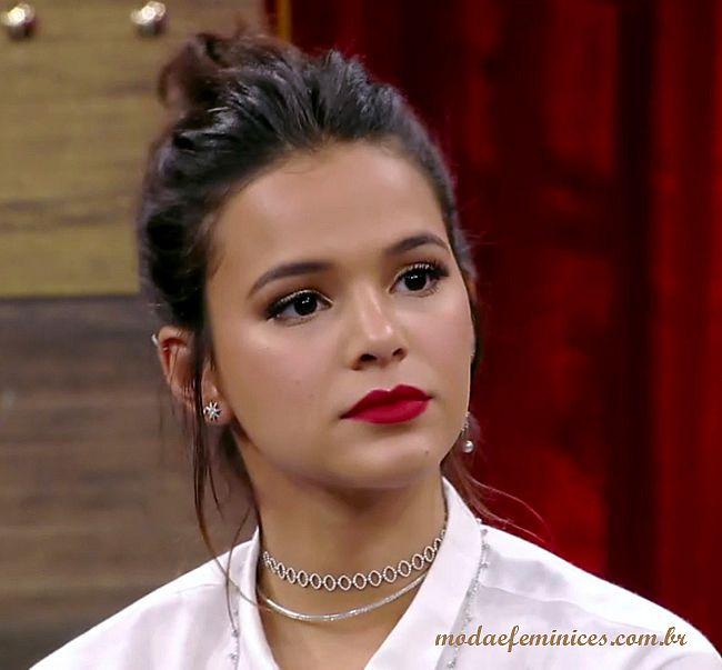 """Maquiagem e batom vermelho da Bruna Marquezine no """"ADNIGHT"""" 22 set 16"""