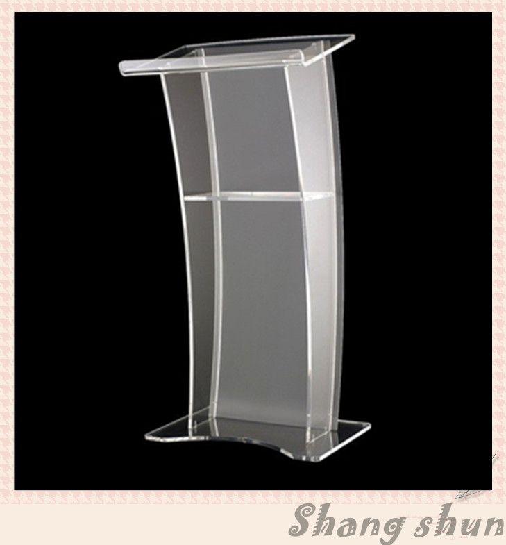 Batal Acrylic Podium/Lucite Chruch Podium/Mimbar Podium Podium Mimbar Gereja Modern Kelas Pmma Transparan