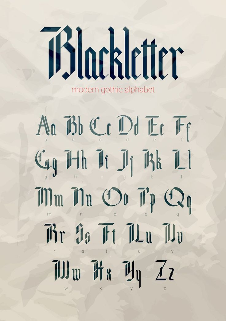 Blackletter modern gothic font. by Supermne on @creativemarket