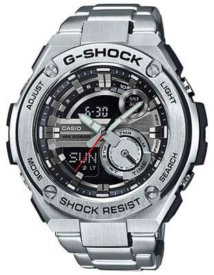 Casio Mens G-Shock G-Steel Watch - Analog - Digital - Stainless Steel - Bracelet