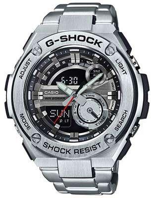 Casio Mens G-Shock G-Steel Watch - Analog - Digital - Stainless Steel - Bracelet