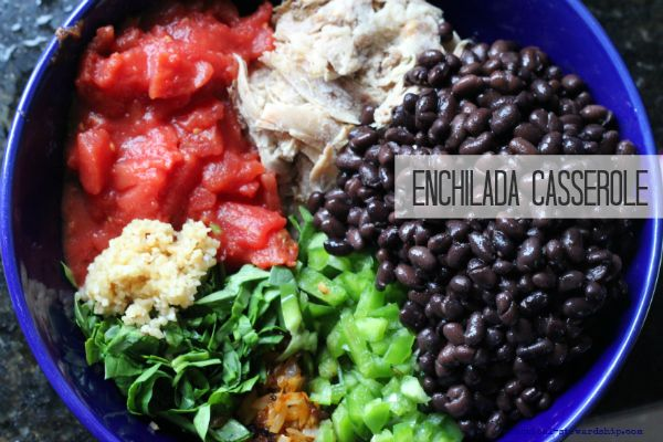 Enchilada Casserole-Slow Cooker and Oven Baked Opt.# slow cooker healthy recipes