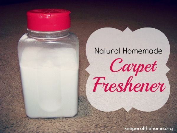 Natural Homemade Carpet Freshener - made a double batch for the LR carpet, w/ 20 drops tea tree and ~30 drops lavender -- smelled great! | Keeper of the Home