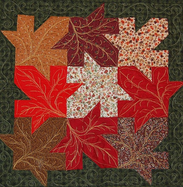 Quilt Template Leaves : 17 Best images about Tessellation Leaf Pattern on Pinterest Free pattern, Quilt and Maple leaves