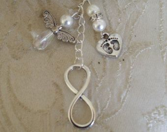 Ivory Swarovski infinity memorial baby loss/miscarriage bouquet charm £10.00 + p&p
