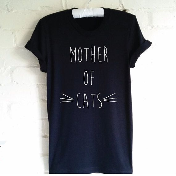 Mother of Cats T-Shirt. Funny Cat Shirt. Cat Lovers by SoPinkUK