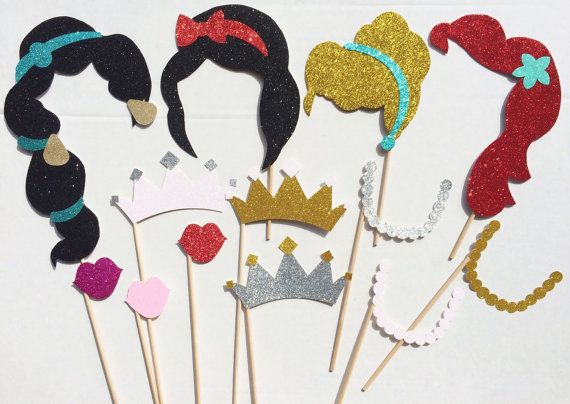 Princess Glitter Photo Booth Prop Set von LetsGetDecorative auf Etsy