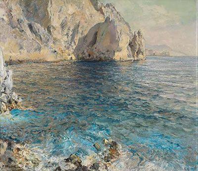 Capri by Carlo Perindani (Milano, 1899 - Capri, 1986)