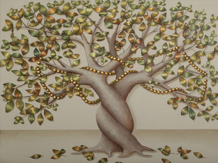 BARBARA GERODIMOU * artist * Greece * www.gerodimou.com **  The Love Tree ~ Many years have passed…It's not only romance but also true love. One is impossible to exist without the other.  It would be unnatural. Maybe it is one?