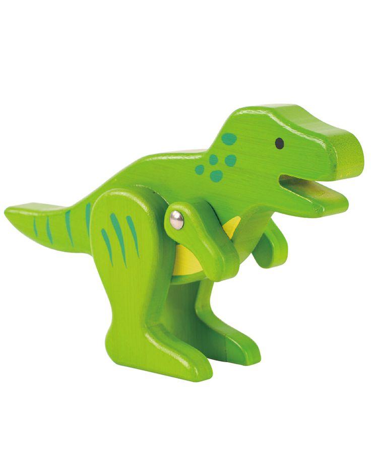 bambusspielzeug trex in grün  kinderspielzeug aus holz