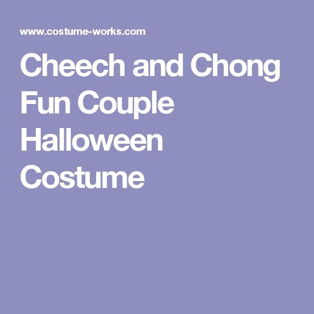 how to make a cheech and chong costume