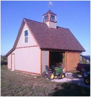 The Candlewood Pole Barn - One of dozens of small barns available as inexpensive stock building plans from architect Don Berg.