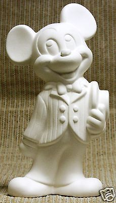 Ceramic Bisque Authentic Mickey Mouse Disney Mold Mm1 U