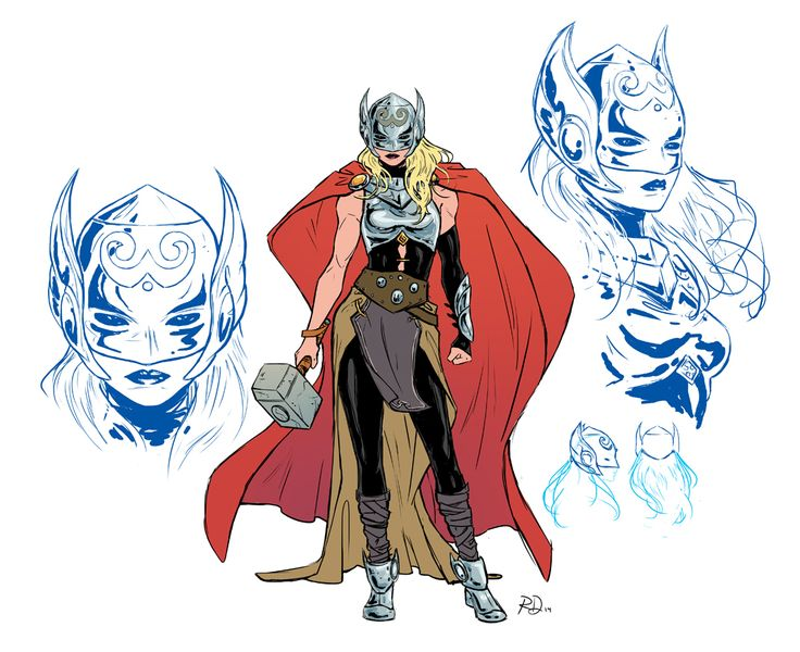 All New Thor character design by Russell Dauterman *